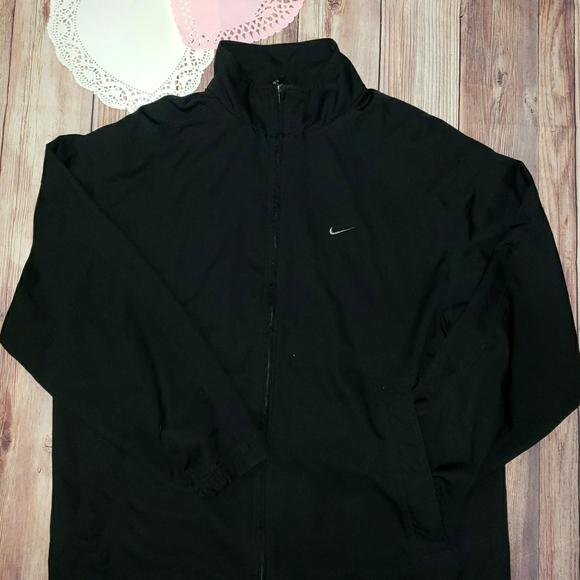 Nike Black Full Zip Polyester Windbreaker Jacket